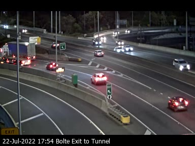Bolte Exit to Tunnel (East)
