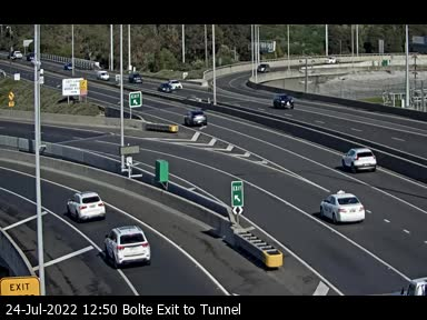 Bolte Exit to Tunnel, VIC (East)